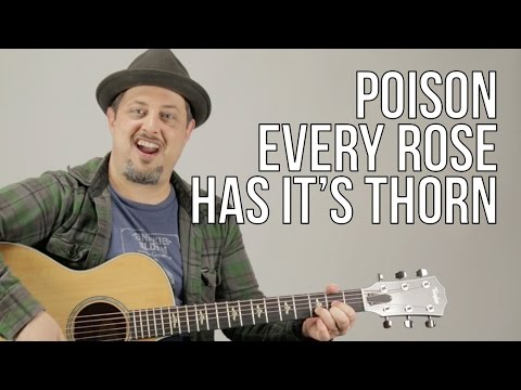 How To Play Poison - Every Rose Has Its Thorn