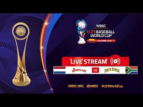 Netherlands v South Africa – U-23 Baseball World Cup 2018