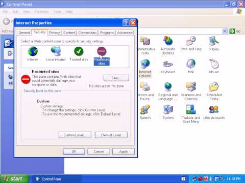 How To Make Changes From Internet Options In Windows XP