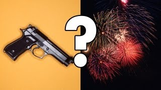 Can you tell the difference between gunshots and fireworks?