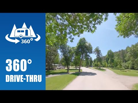 Camping At Spearfish City Campground In Spearfish, SD - 360° Drive-thru