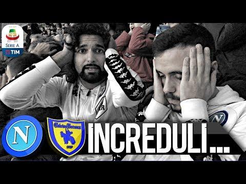 INCREDULI... NAPOLI 0-0 CHIEVO   LIVE REACTION NAPOLETANI SAN PAOLO 4K