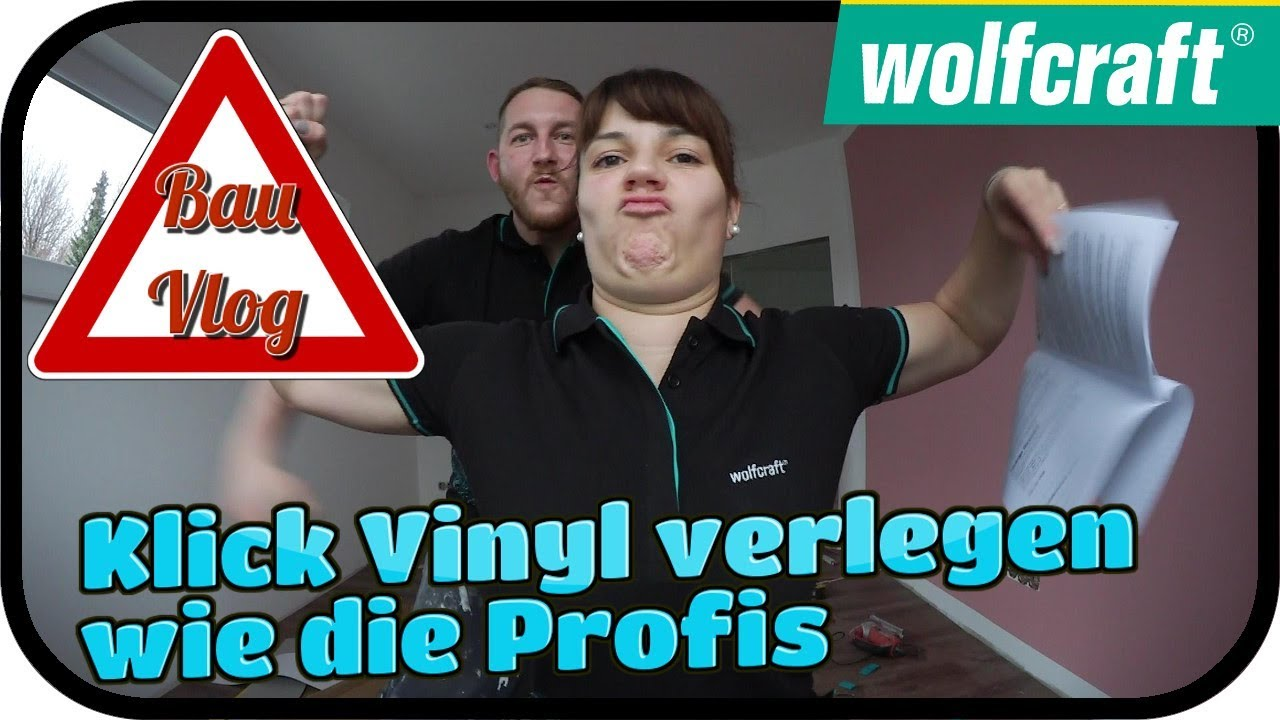 klick vinyl verlegen wie die profis bauvlog. Black Bedroom Furniture Sets. Home Design Ideas