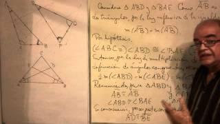 Geometría - Lección 19 - A (dos ángulos congruentes en un triángulo, lo hacen isósceles)