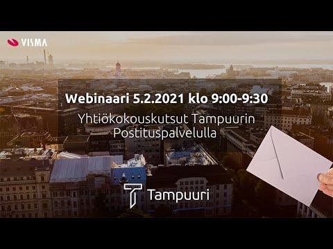 Yhtiökokouskutsut Tampuurin Postituspalvelulla