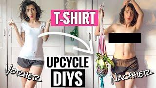 4 einfache & coole 0€ T-Shirt DIYs | Upcycle deine alten Klamotten