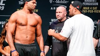 UFC 209 Weigh-Ins: Alistair Overeem vs. Mark Hunt Staredown