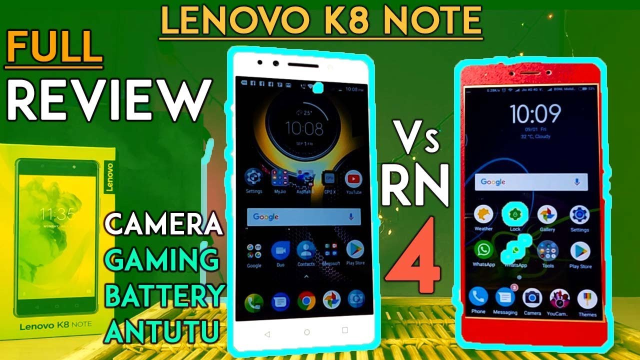 LENOVO K8 NOTE- REVIEW Pros & Cons! Camera AnTuTu Battery Specs Vs Redmi  Note 4(Turbo Charging Test)