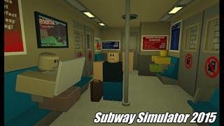 Roblox (Subway Simulator 2015) o que diabos é este jogo?