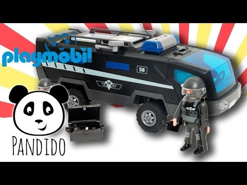playmobil polizei sek polizei truck ausgepackt und. Black Bedroom Furniture Sets. Home Design Ideas