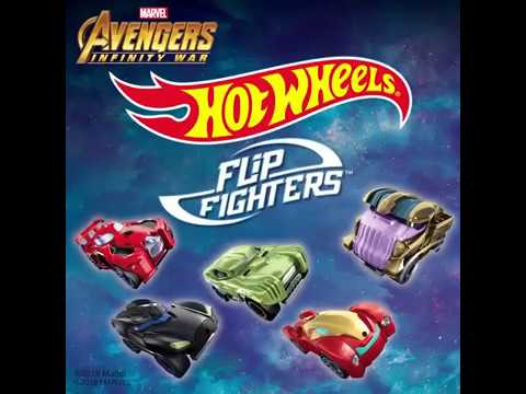 Hot Wheels Flip Fighters Iron Man Die Cast Model Toy Race Car New