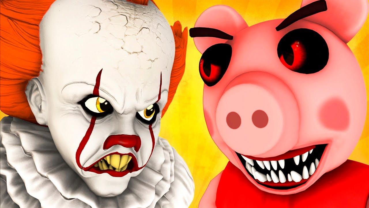 Пигги vs Пеннивайз (Roblox Piggy Роблокс Свинка Пеппа Оно Хоррор Свинья Челлендж 3D Анимация)
