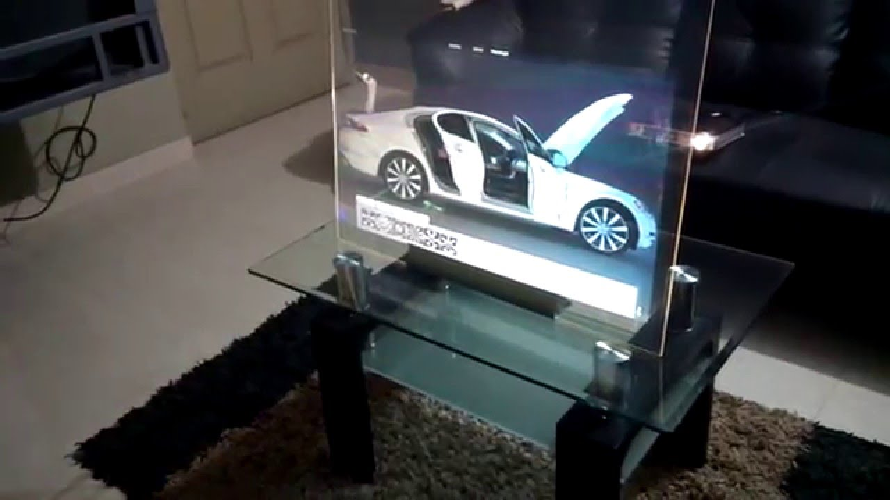 Interactive Holographic Transparent Glass Display Youtube