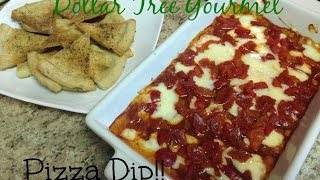 Pizza Dip - Dollar Tree Gourmet! (7 Ingredients, 7 Dollars)