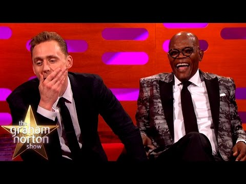 Samuel L Jackson and Tom Hiddleston Lose it Over Their  Art  The Graham Norton