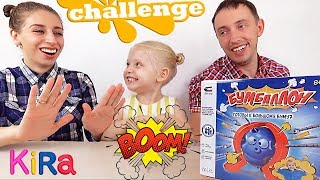 What scared Mommy? Family Challenge Funny Boom Balloon Game