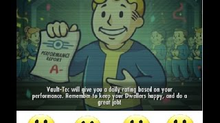 Fallout Shelter - ANDROID USERS #3 - Happiness TIPS