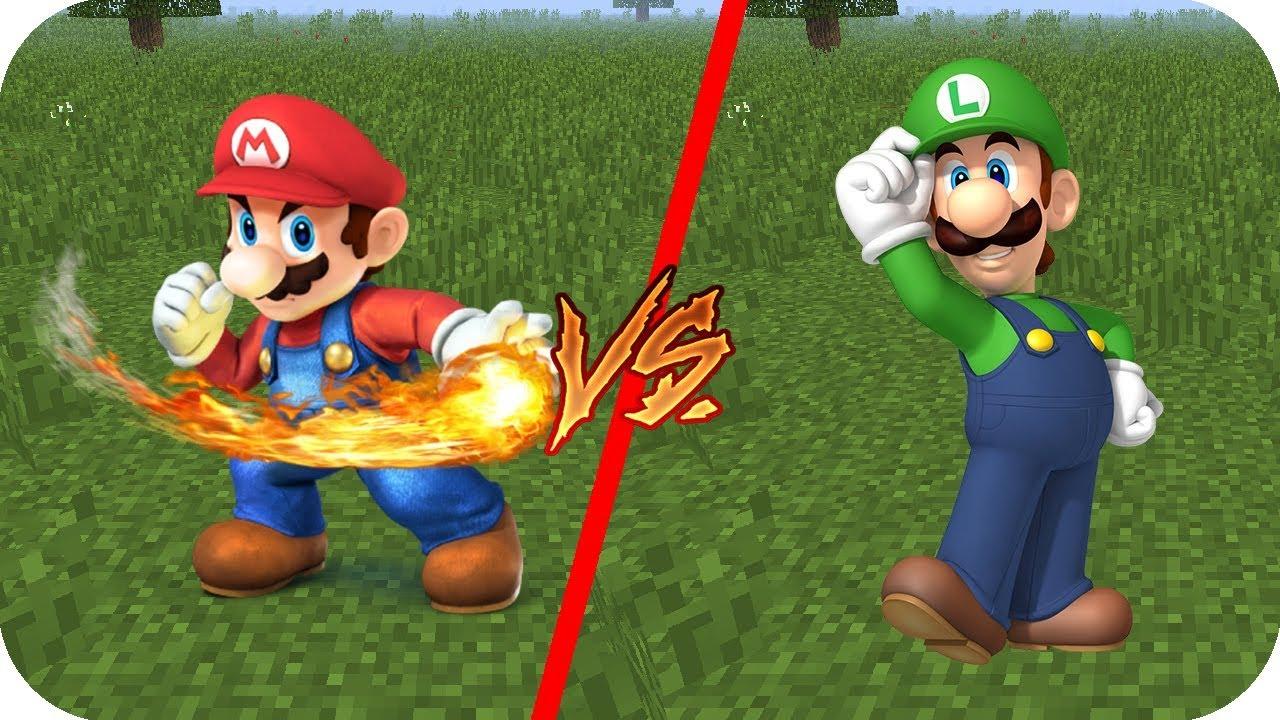 Casa Mario Bros Vs Casa Luigi Aenh Minecraft Pe Juegos Gratis