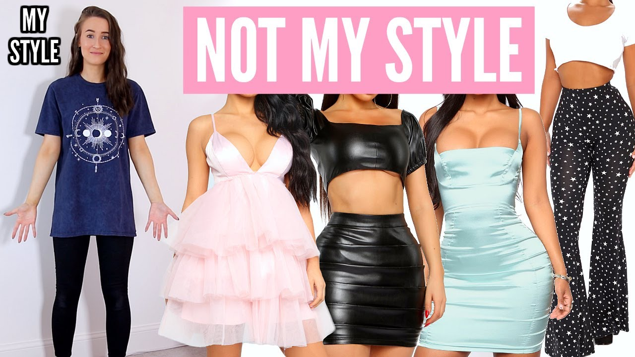 I Tried Wearing Outfits I Would NEVER Usually Wear... From Fashion Nova! AD