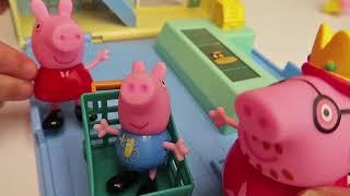 Peppa Pig Игрушки Дом И Сюрприз Яйцо Открытие Игрушка Сюрпризы Для Детей Игрушка Обзор