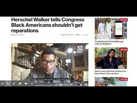 """Herschel Walker """"Black Americans shouldn't get reparations"""""""
