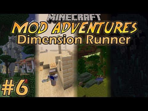 Minecraft Mod Adventures Dimension Runner: Ep  6- Strange
