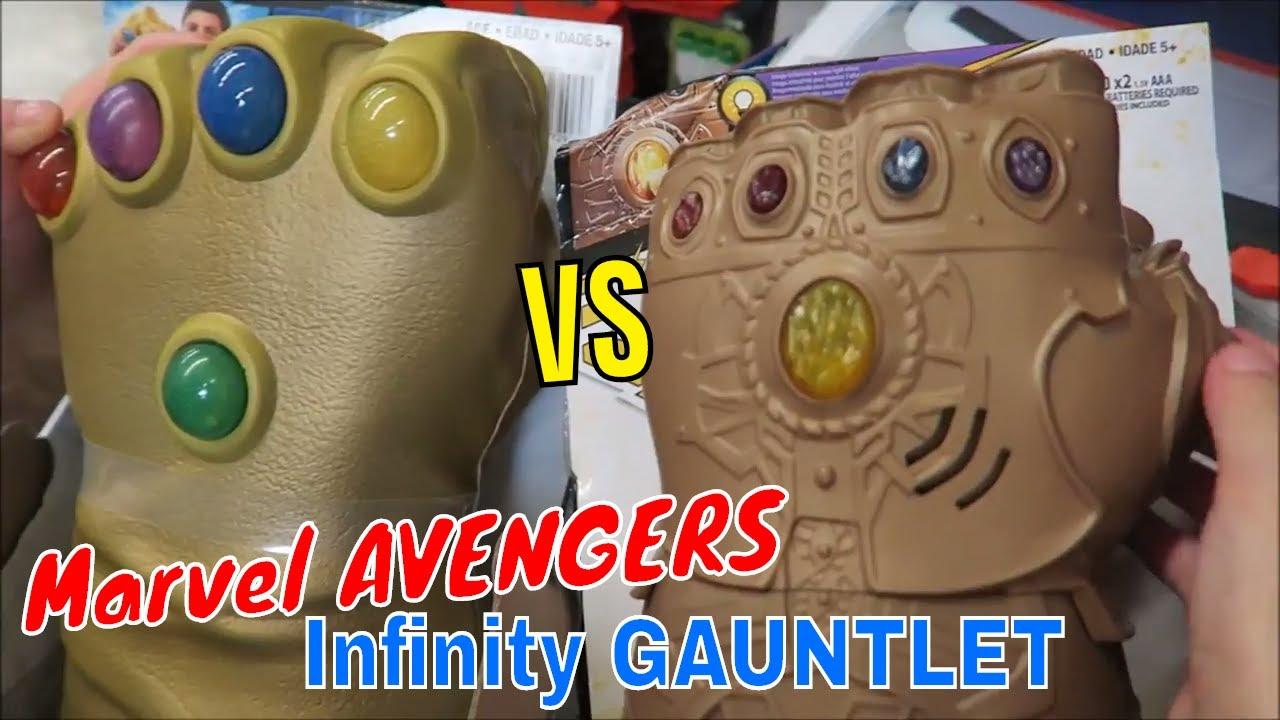 Marvel AVENGERS Infinity War Infinity GAUNTLET Electronic Fist & SDCC 2014  Infinity Gauntlet TOY