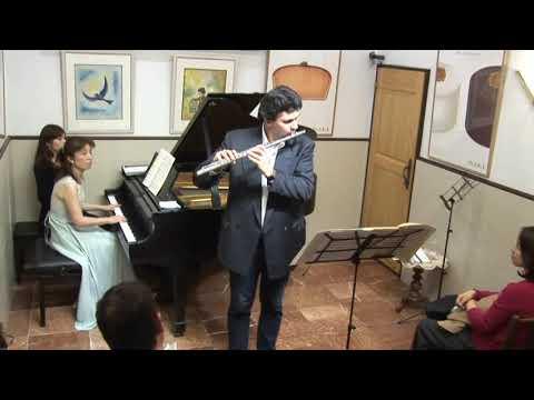 Vincent Lucas(flûte) à Maeterlinck le 14 avril 2019(la pâtisserie à Yokohama)