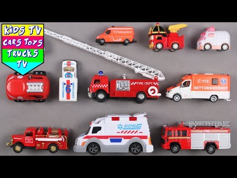Learn Ambulance And Fire Engine For Kids   Vehicles For Kids   Kindergarten Learning   Kids TV