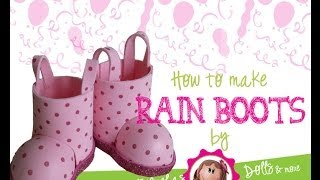 How to make rain boots for your fofucha.