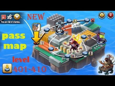 Monster Legends - Adventure Map level 401-410 review combat - Fun Battle :D