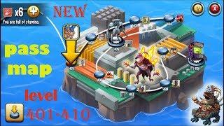 Monster Legends Adventure Map level 401-410 review combat Fun Battle :D