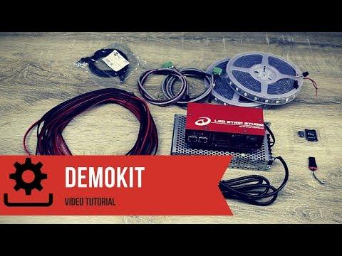 LED Strip Studio - Demo kit - Tutorial - YouTube