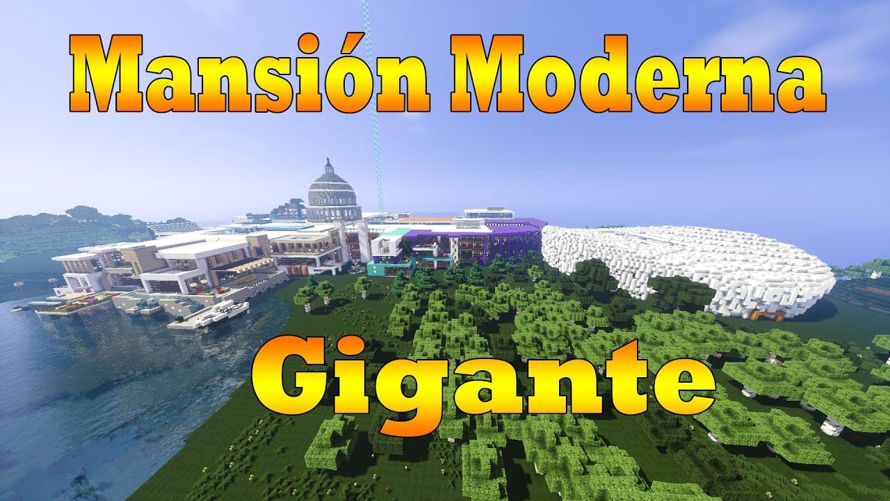Minecraft casa moderna gigante descarga modern house for Casa moderna gigante minecraft