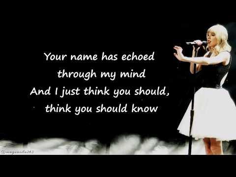 Taylor Swift - Treacherous (Lyrics)
