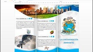 como hacer un   triptico, brochure o  folleto en word 2013, 2016