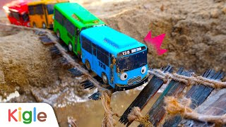 Tayo Bus Car Toy falls from the bridge l Tayo Super Rescue Team   Tayo the Little Bus   KigleTV