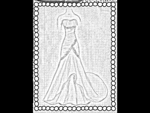 Como hacer un vestido de noche con cola