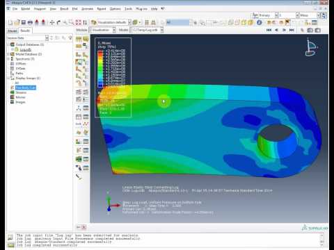 FEA Analysys Abaqus Connecting lug part 1: static pressure