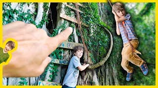 EXPLORING ABANDONED FOREST TREE FORT for MYSTERY CLUES!