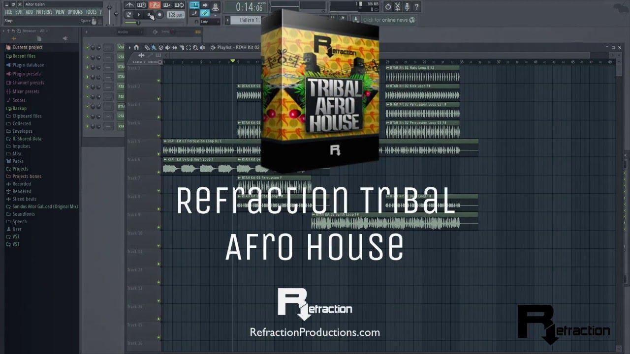 Refraction Tribal Afro House - Librería de Samples & Loops