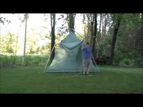 Setting up a Vintage Umbrella Tent.wmv & Setting up a Vintage Umbrella Tent.wmv - YouTube