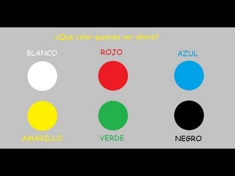 los colores en español para niños educación infantil flashscards ...