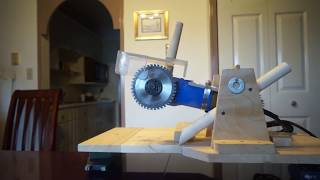 DIY mini chop saw to a sliding mini chop saw from a 4 1/2in grinder with length of cut to 5 ft