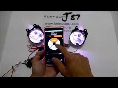 Osram Sylvania LED ZEVO Pulse Head Fog Lamp Show Light Install How it works
