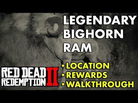 Red Dead Redemption 2 - Legendary Bighorn Ram (Location, Rewards, Walkthrough)