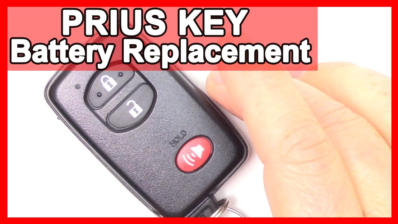 How To Prius Smart Key Battery Replacement