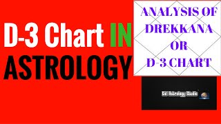 D 3 CHART IN ASTROLOGY | Drekkana chart In Astrology | Divisional Chart in Astrology