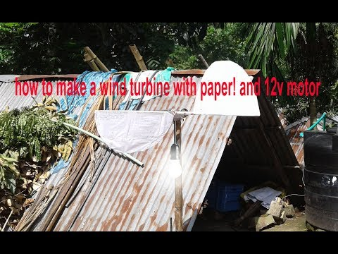 how to make a wind turbine!with paper! Wind Power Generator