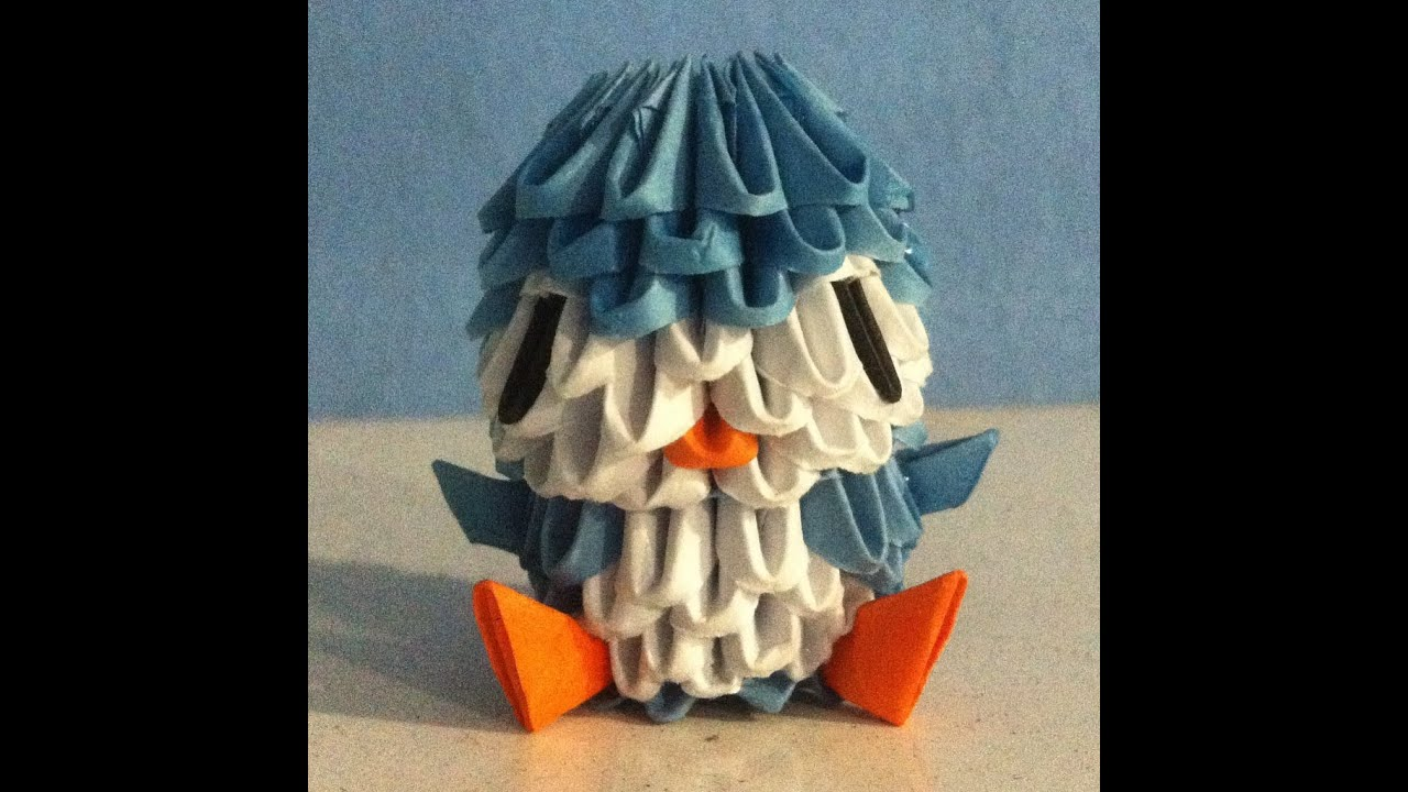 3D Origami Mini Penguin Tutorial